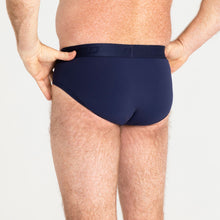 Load image into Gallery viewer, Mo Mens Brief Navy Light Moderate 4