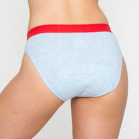 Hipster Bikini - Blue Marle Moderate-Heavy Absorbency