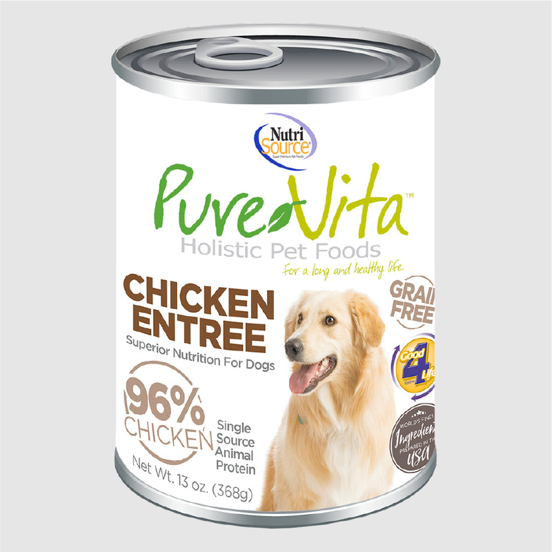 PureVita Canned Dog Food – Chicken Entree