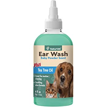 NaturVet Ear Wash with Tea Trea Oil