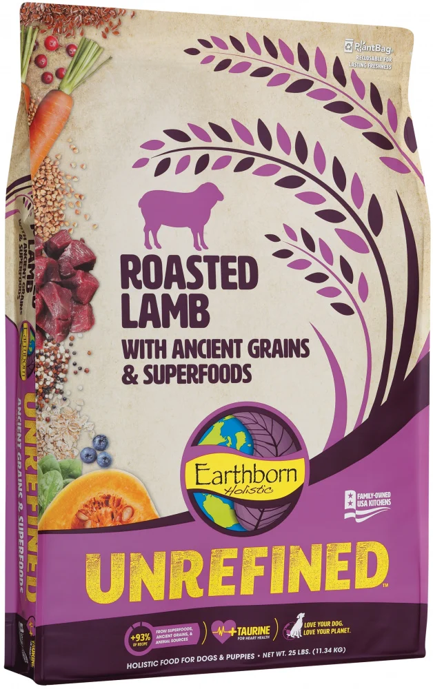 Earthborn Unrefined Roasted Lamb Dog Food