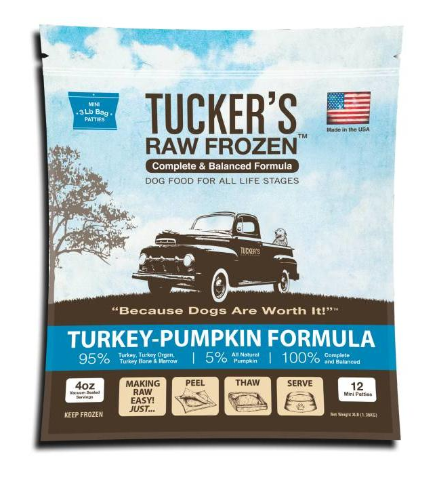 Tucker's Frozen Raw Turkey-Pumpkin Dog Food 6 lb.