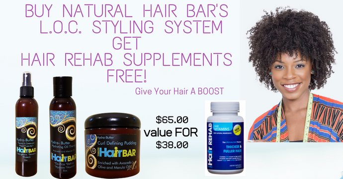 Hair a Boost L.O.C. package with free vitamins