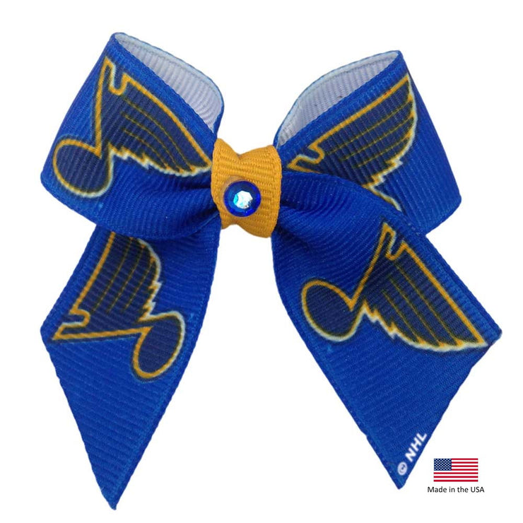 St. Louis Blues Pup Hair Bow - Hug My Pup