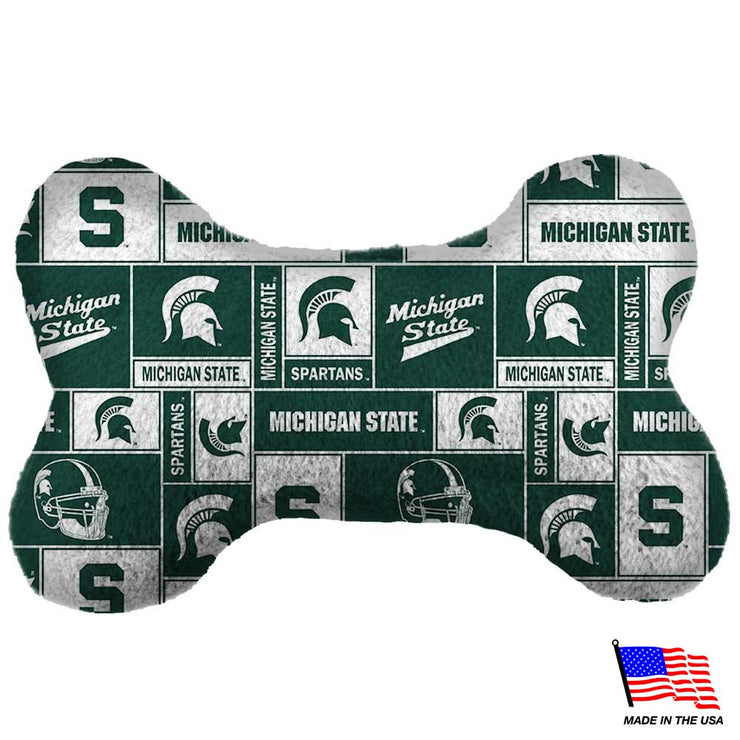 Michigan State Plush Bone Pup Toy - Hug My Pup