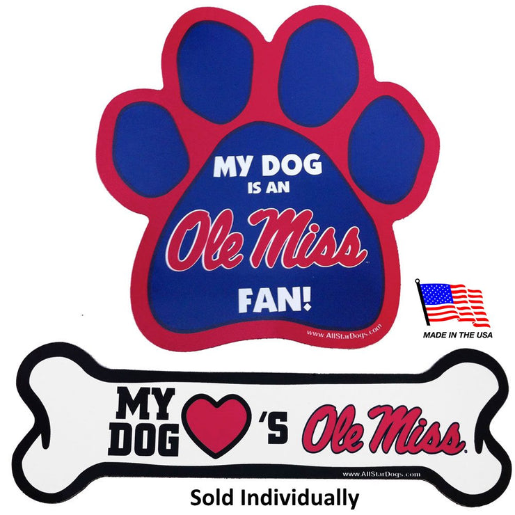Ole Miss Rebels Car Magnets - Hug My Pup
