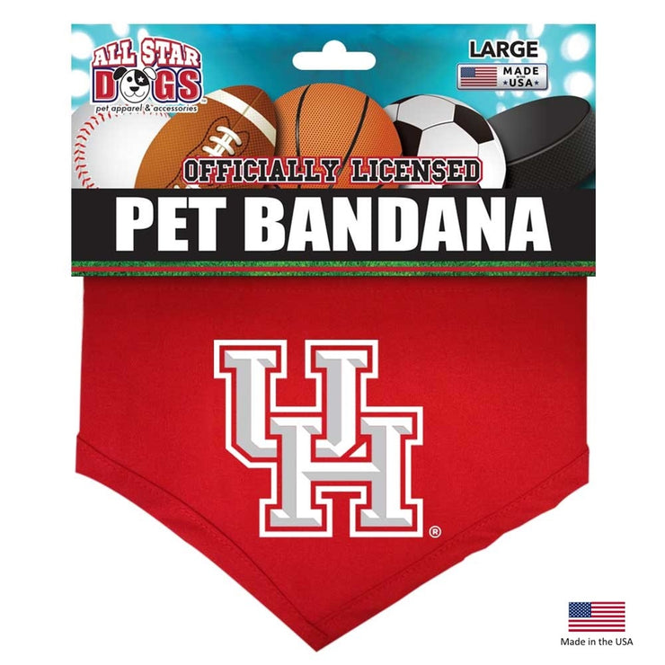Houston Cougars Officially Licensed NCAA Pup Bandana - Hug My Pup