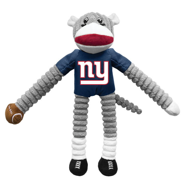 New York Giants Sock Monkey Pup Toy - Hug My Pup