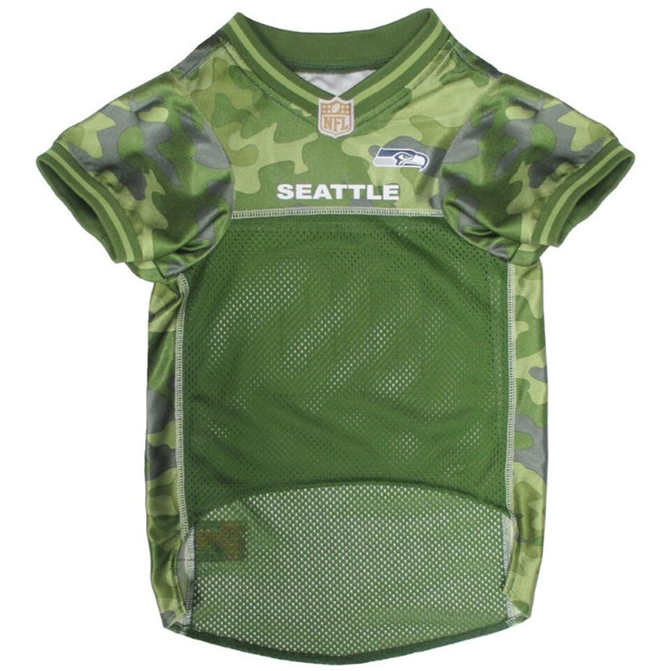 Seattle Seahawks Officially Licensed NFL Pup Camo Jersey - Hug My Pup