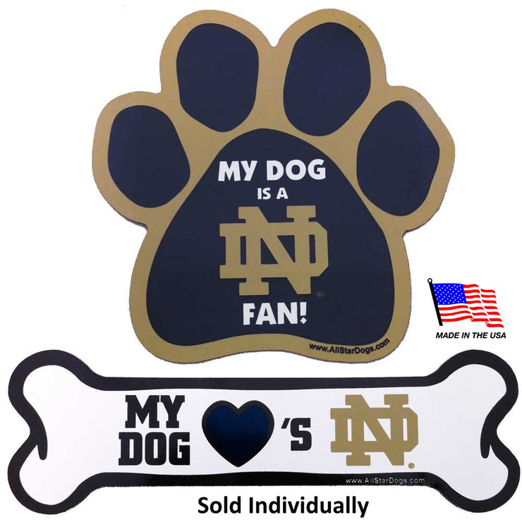 Notre Dame Fighting Irish Car Magnets - Hug My Pup
