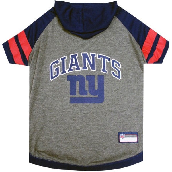 New York Giants Pup Hoodie T-Shirt - Hug My Pup