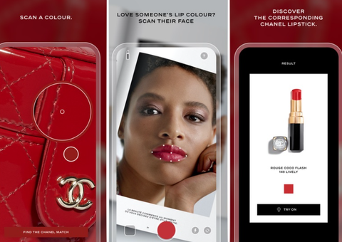 Lipscanner is a world-first for the brand and pairs colour inspiration with more than 400 lip products from the luxury French brand