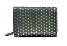 Load image into Gallery viewer, Wrap Purse Green Leather All over Shamrocks