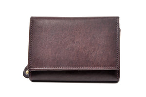 Wrap Purse in Brown Leather