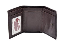 Load image into Gallery viewer, Tri Fold Wallet in Dark Brown Leather