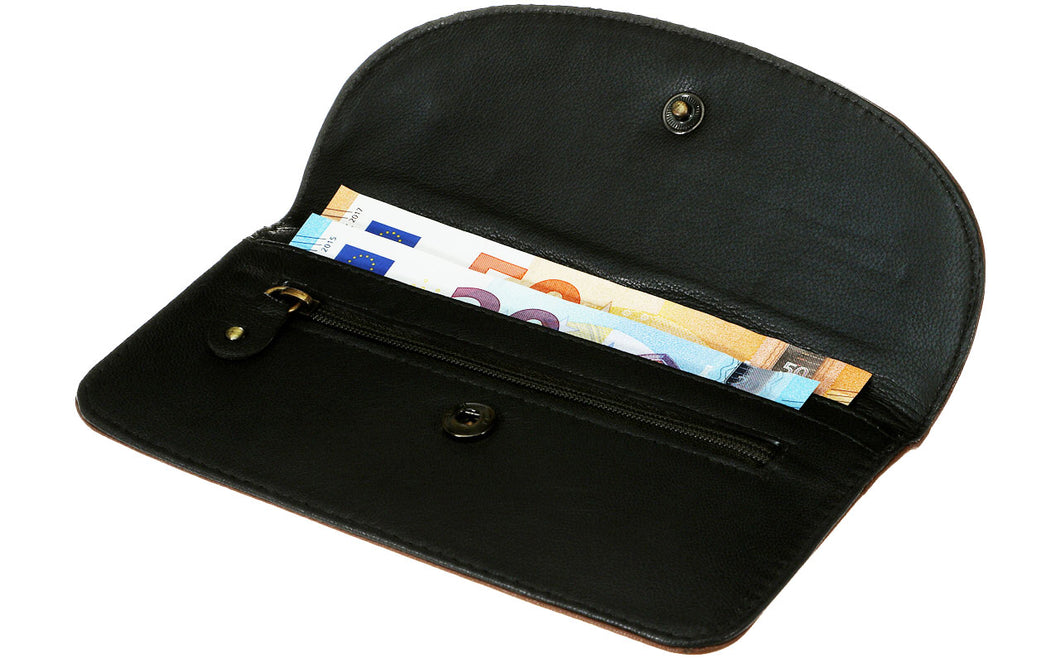 Two Zip Compartment Purse