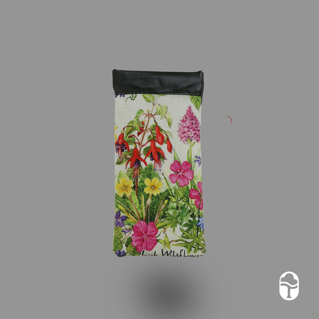 Snap Glasses case Irish Wildflowers