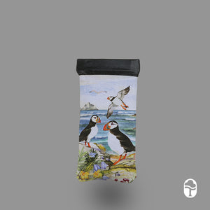 Snap Glasses Case Puffins