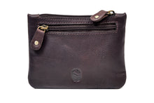 Load image into Gallery viewer, Three Zip Purse Brown Leather