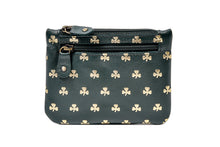 Load image into Gallery viewer, TK139 Three zip Purse All over Shamrocks