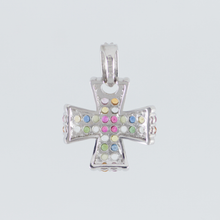 Load image into Gallery viewer, 18K nawaratana x Honeycomb pendant head white gold