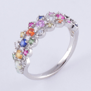 Nawaratana Pt.900 Sunshine Road Ring Platinum Image 1