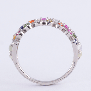 Nawarataha Pt.900 Sunshine Road Ring Platinum Photo 4