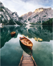 Load image into Gallery viewer, Boat In a Mountain Lake