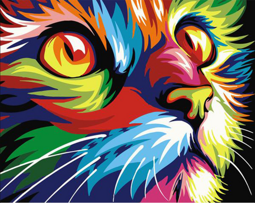 Modern Cat Painting - Drop Of Colour