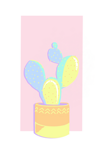 The Cacti Set - Happy Pastels Art Kit