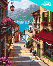 Load image into Gallery viewer, Cobbled street by the lake