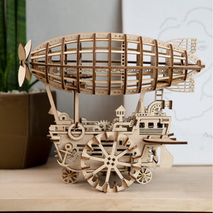 DIY Mechanical Wooden Airship Model - Drop Of Colour