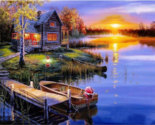 Load image into Gallery viewer, Lakehouse At Sunset - Drop Of Colour