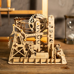 DIY Mechanical Wooden Model - Marble Lift Coaster - Drop Of Colour