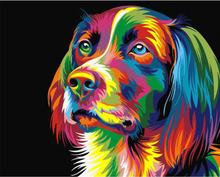 Load image into Gallery viewer, Modern Dog Painting - Drop Of Colour