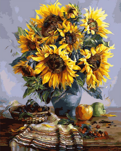 Sunflowers Painting - Drop Of Colour