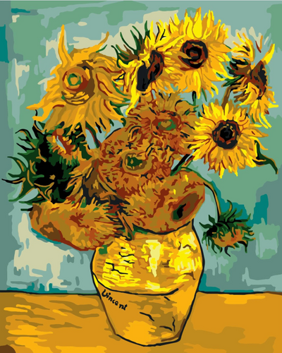 Vincent Van Gogh - Sunflowers - Drop Of Colour