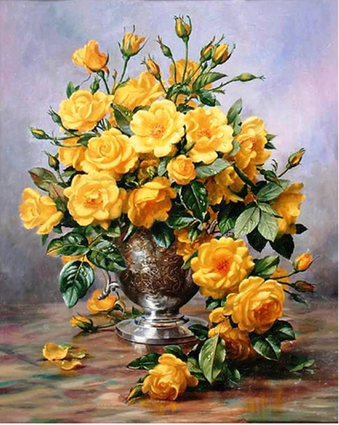Yellow Roses - Drop Of Colour