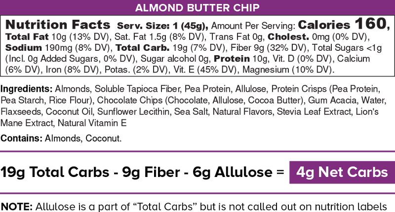Almond Butter Chip IQ Bar - Best before 07/01/21-Bar-Yo Keto