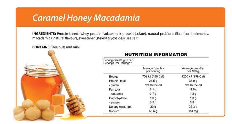Caramel Honey Macadamia Smart Protein Bar-Bar-Yo Keto