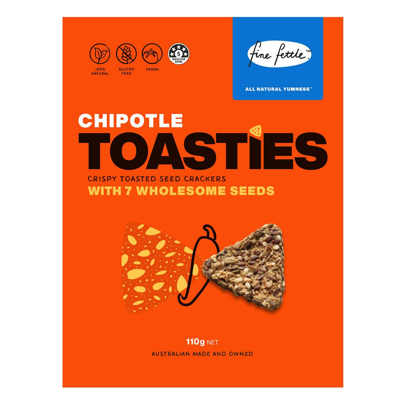 Chipotle Toasties - Crispy Toasted Seed Crackers-Crackers-Yo Keto