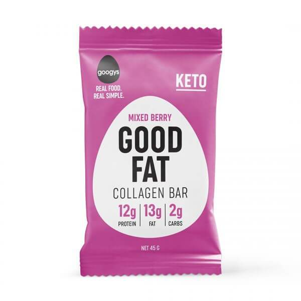 Mixed Berry Good Fat Collagen Bar-Bar-Yo Keto