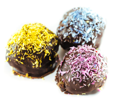 Chocolate Truffles with Unicorn Sprinkles