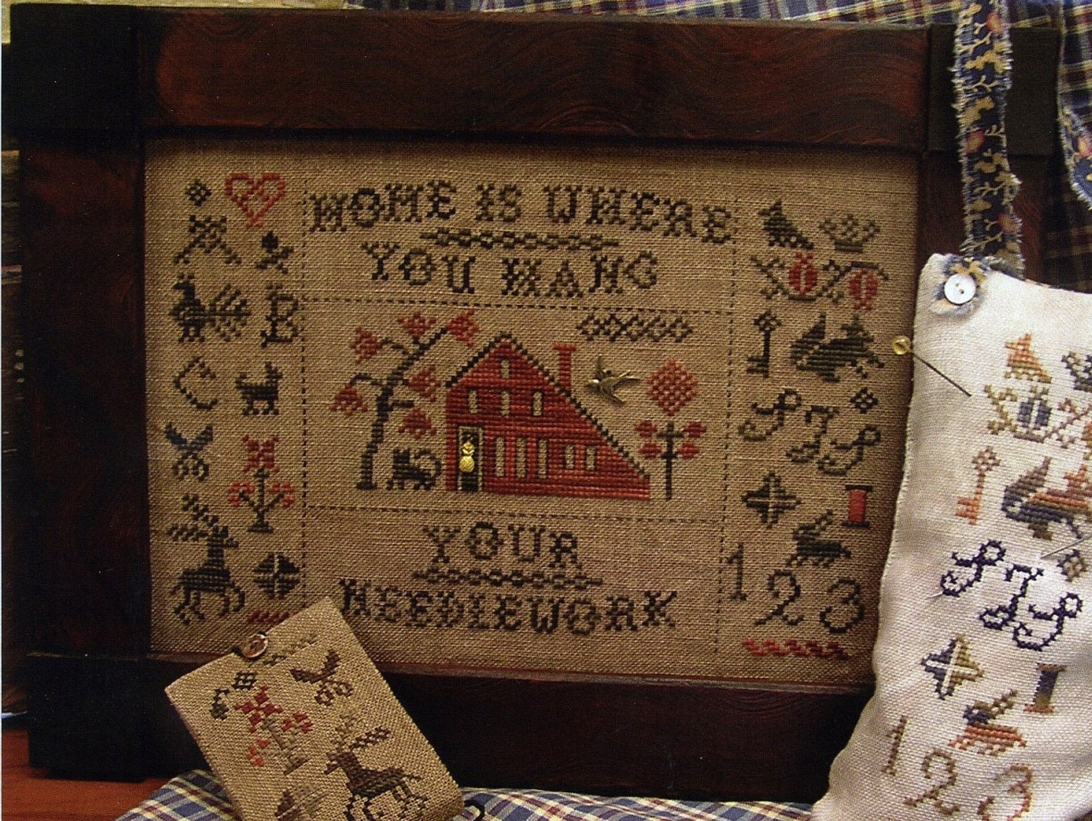 Home is Where You Hang Your Needlework | Homespun Elegance | Cross Stitch Pattern