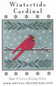Wintertide Cardinal | Artful Offerings | Cross Stitch Pattern