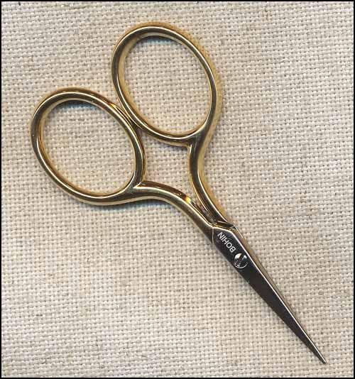 Bohin Gilt Handle Embroidery Scisssors