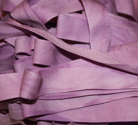 Orchid - Hand-dyed Cotton Twill Tape