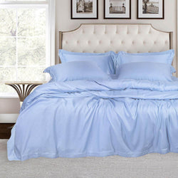 500 Thread Count Bamboo Bedding - Blue