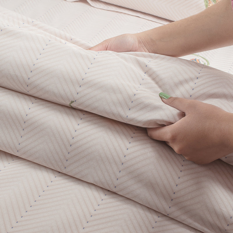 350 Thread Count Super King Size Bedsheet 2.74mtr. x 2.74 mtr. with 2 Pillow Covers