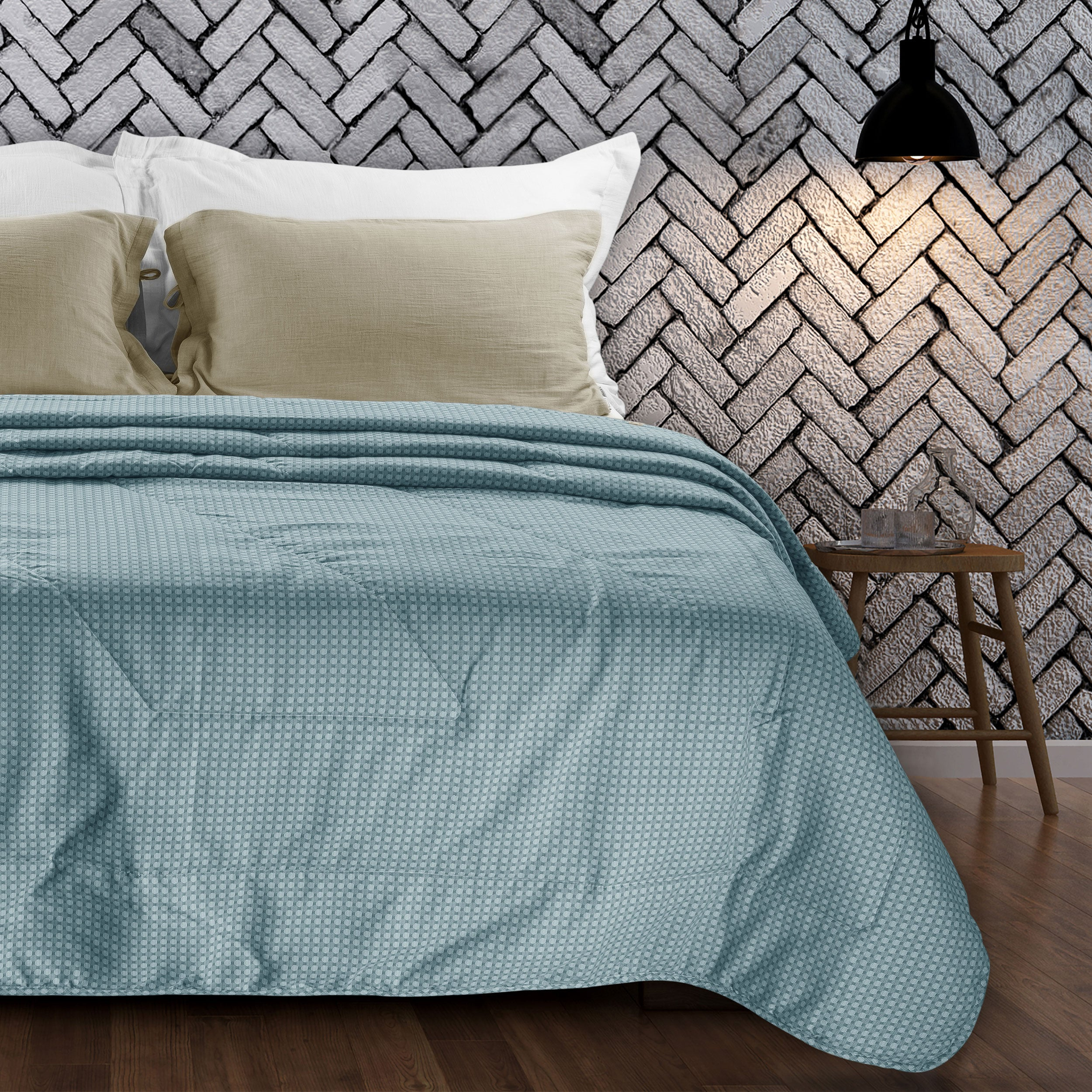 Countryside Summer AC Quilt - Aquatic